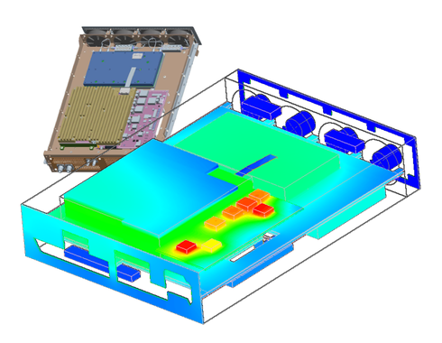 Thermal management study (Courtesy: Plextek Ltd.)