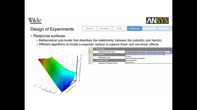 Introducing Design and Robust Optimisation with ANSYS DesignXplorer