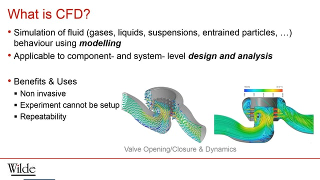 Webinar Video Wilde S Introduction To Cfd Software
