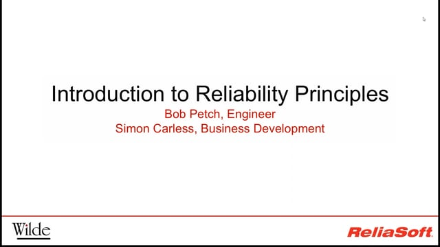 Introduction to Reliability Principles
