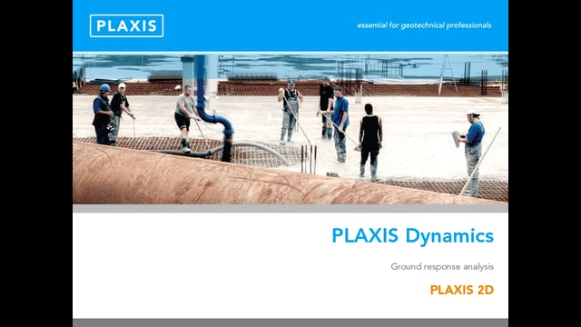 PLAXIS 2D Dynamics Modelling of Ground Response tb
