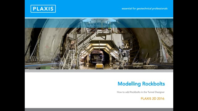 PLAXIS 2D Modelling of Rockbolts using Tunnel Designer tb