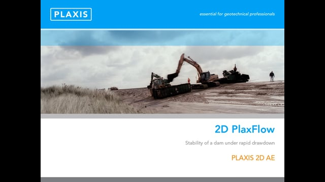 PLAXIS 2D Plaxflow Capability tb