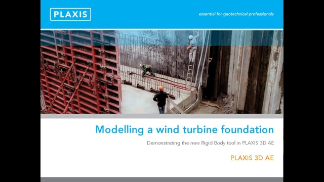 PLAXIS 3D Modelling a Wind Turbine Foundation tb