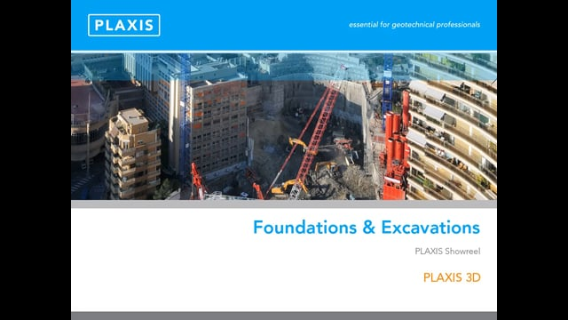 PLAXIS 3D Modelling of Foundations and Excavations tb