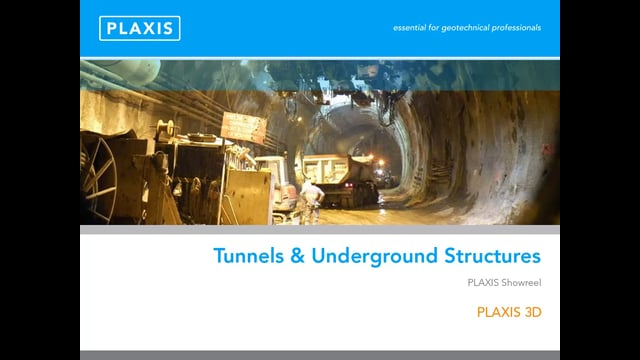 PLAXIS 3D Modelling of Tunnels and Underground Structures tb