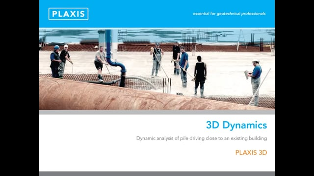 Plaxis 3D Dynamic Analysis Capability tb