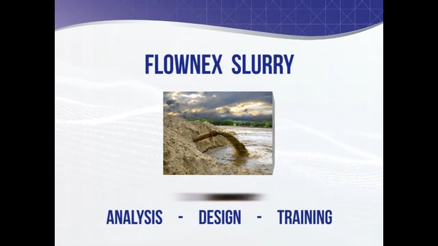 Robust Slurry System Design with Flownex