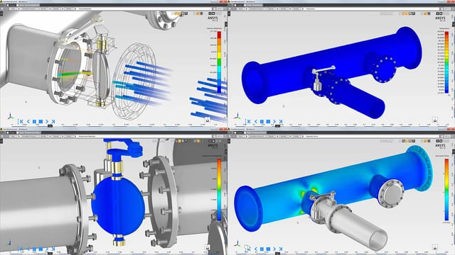Structural Thermal & Fluid Analysis of Valve with ANSYS AIM