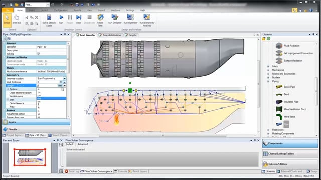 Turbine Combustion Chamber Analysis and Design with Flownex