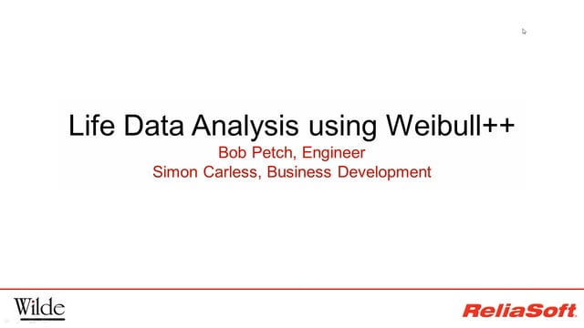 life data analysis weibull webinar