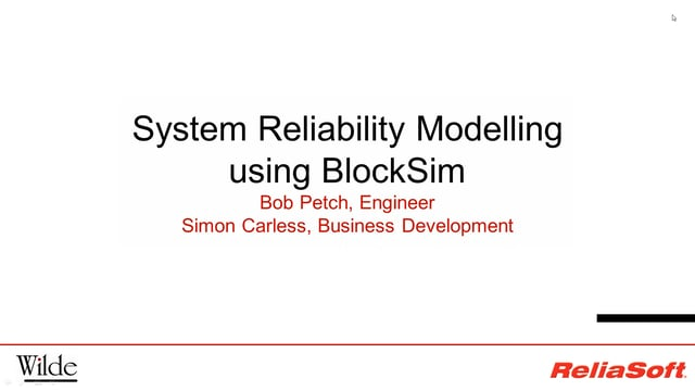 system reliability modelling blocksim
