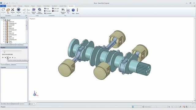 Dynamics for ANSYS SpaceClaim by Algoryx