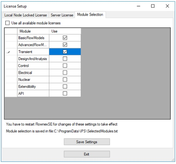flownex-update-2-license-module-selector