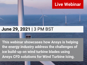 Ansys CFD Solutions for Wind Turbine Icing